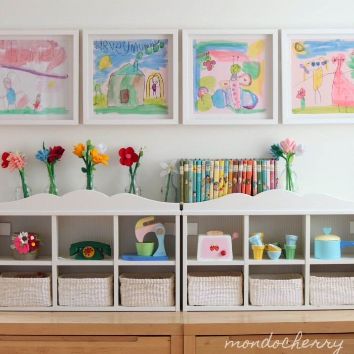 Оформление детских рисунков в детском саду