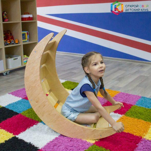 Детская качалка-балансир радуга месяц луна, деревянная игрушка для детского сада, монтессори-материал